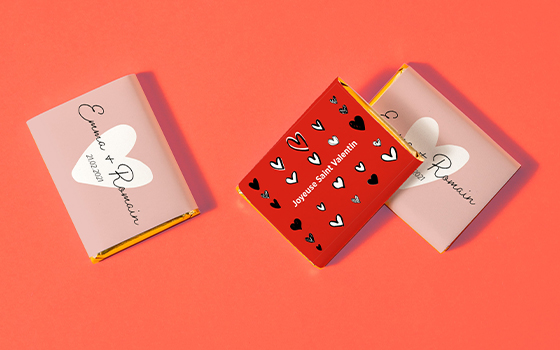 Idée cadeau saint valentin chocolat personnalisés