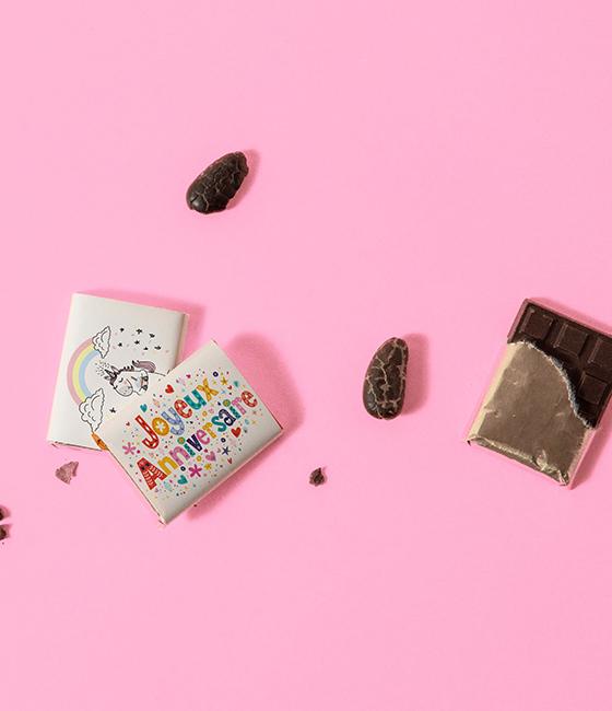 Chocolat personnalisables napolitain anniversaire