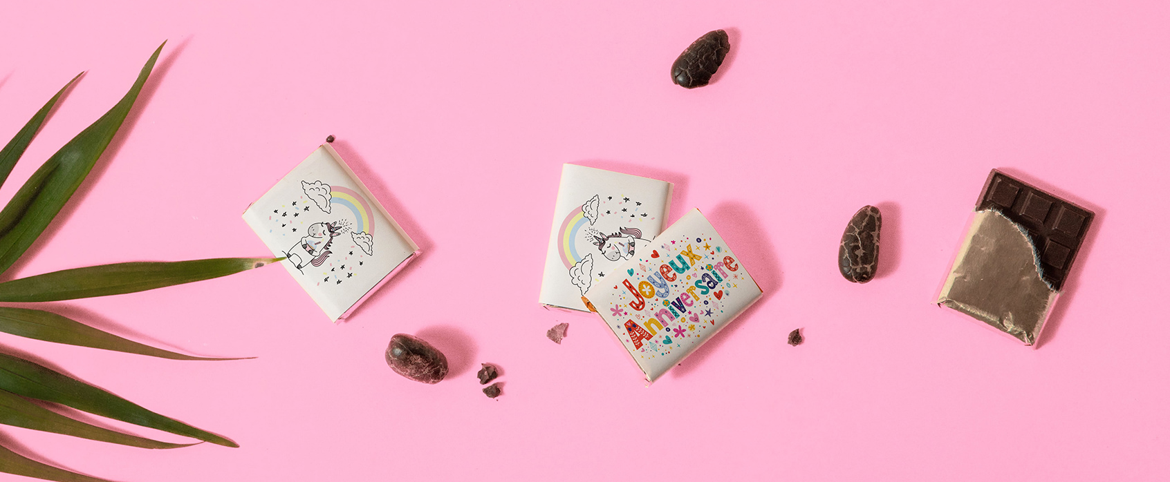 Chocolat personnalisés exemple anniversaire