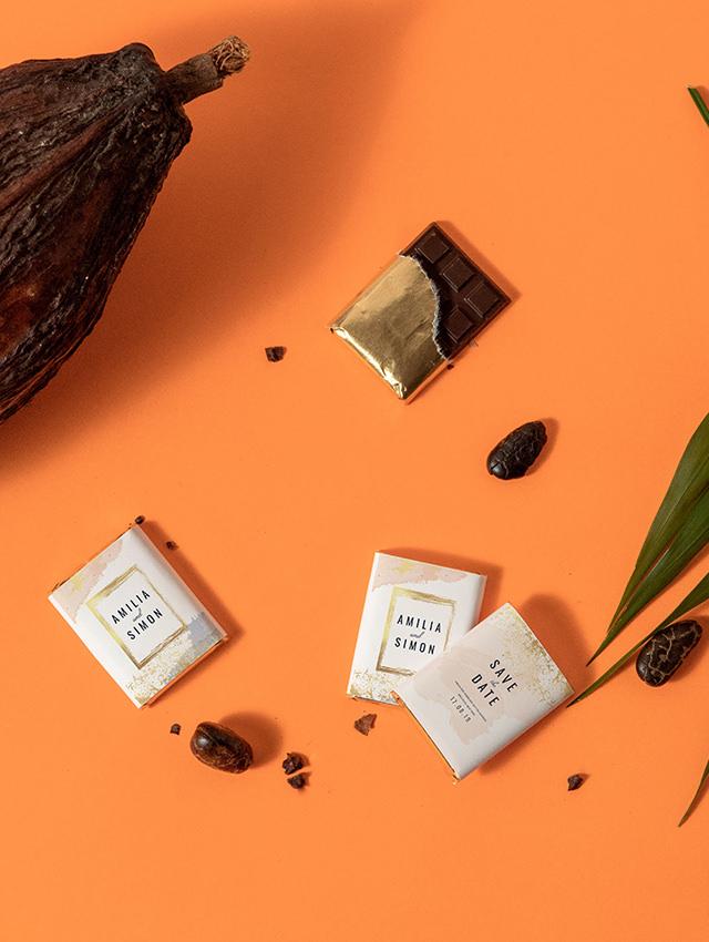 personnalisation chocolat mariage exemple visuel